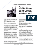 G. Pickering - ELT Manager Research Article