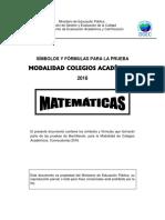 Símbolos y Fórmulas Matemáticas