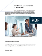 How to Become a Good and Successful Management Consultant