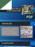 presentación agregados en la construcción