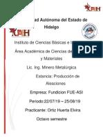 Reporte de Estancia de Fundicion