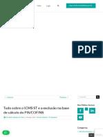 Exclusão Do ICMS ST Da Base de Cálculo Do PIS e COFINS