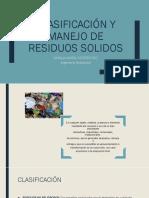 Clasificación y Manejo de Residuos Solidos