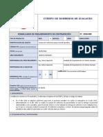 Formulario de Requerimiento de Uniformes