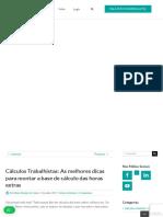 Cálculos Trabalhistas_ As melhores dicas para montar a base de cálculo das horas extras - Inegável Lógica dos Cálculos Judiciais.pdf