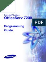 OfficeServ 7200 Programing