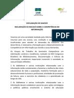 Declaração de Maceio Sobre a Competencia Em Informação