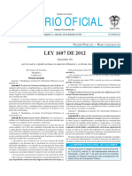 Ley 1607 26 Dic 12 Reforma Tributaria Diario Oficial