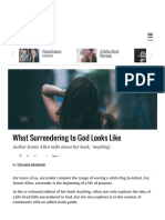 What Surrendering To God Looks Like