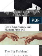 God's sovereignty and man's free will