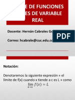 Límite de Funciones Reales de Variable Real