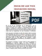cia de Las Tics en La Educacion Inicial