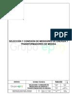 Ra8 030 Seleccion y Conexion de Medidores de Energia y Transformadores de Medida