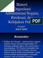 Organisasi Birokrasi Kebijakan Publik