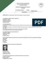 Examen de Diagnostico Artes Visuales 1