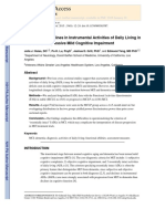 Longitudinal Assesment of Activities of Daily Living