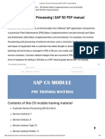 Customer Service Processing _ SAP SD PDF Manual Tutorial