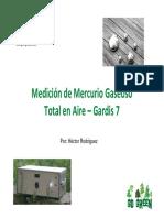 Mercurio Gaseoso Total en Aire Con Gardis 7 Por Green Group