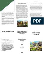 Bicentenario de La Batalla de Boyaca