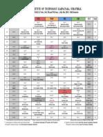 Academic Calendar July -Dec 2019 B. Tech. Higher Semesters