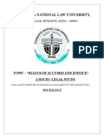 """TOPIC - """"STATUS OF ACCUSED AND JUSTICE"""" A SOCIO- LEGAL STUDYFinal Draft of Sociology 1"""