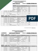 Carg. Acad. de Cont. Pub. y Lic. en Contaduria 1 Sem 2012