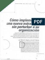 Como Implementar Una Nueva Estrategia Sin Perturbar a Su Organizacion