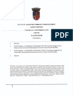 City of St. Augustine fiscal year 2019-2020 budget summaries