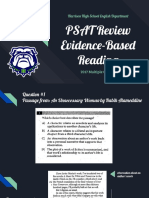 psat review  reading 2017