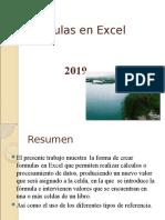 Formulas en Excel 2019
