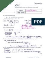Algebra H Algebraic Proof v2 SOLUTIONS 1 2