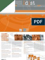 Plaquette UFR IDIST info Doc - SIC (science de l'ifnormation et de la documentation)