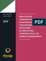 Relevamiento de los servicios de comunicación audiovisual comunitarios, populares, alternativos, cooperativos y de pueblos originarios en Argentina