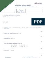 Algebra H Factorising Expanding Solving Polynomials v2