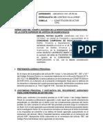 modelo de escrito de constitución de Actor Civil