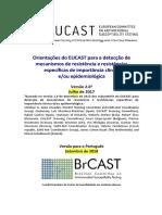 Orientações do EUCAST para a detecção de mecanismos de resistência e resistências específicas