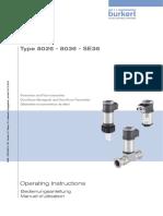 Manual flujometro Burkert