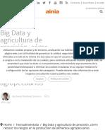 El potencial del big data en la agricultura de precisión