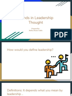 Trends in Leadership Thought