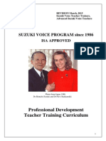 Suzuki Voice Professional Development