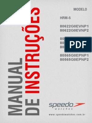 La risa menú labios  Manual do Relógio Speedo   Frequência Cardíaca   Mergulho Submarino