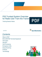 TE P25 Trunked System Overview