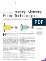 A Primer on Reciprocating Metering Pump Technologies