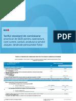 Tarif Standard de Comisioane PF