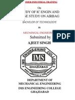 Ajeet Singh Summer Training Report