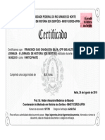 Certificado Francisco Das Chagas Da Silva