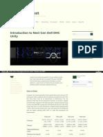 Sanenthusiast Com Introduction to Next Gen Dell Emc Unity