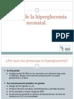 Manejo de La Hiperglucemia Neonatal. Macarena Reolid Pérez R3 HGUA Sección Neonatología Tutor_ Pedro Muñoz.