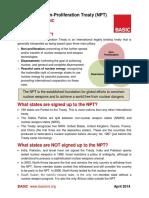 The Nuclear Non-Proliferation Treaty (NPT)