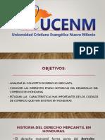 Historia Del Derecho Mercantil en Honduras